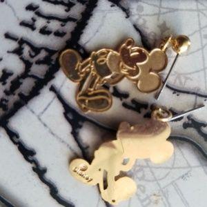 Mickey gold earrings